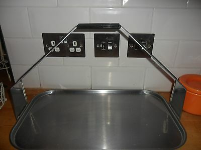 Large Vintage/retro Metal Tray With Carry Handle Art Deco Style