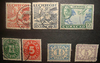 Curacao Airmail Postage due stamps  1915-42 Hermes Queen numerals Lot 1