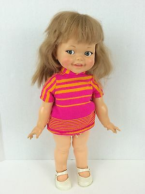 Vintage 1966-67 Ideal GIGGLES Flirty Eyes Doll in ORIGINAL Clothes with shoes