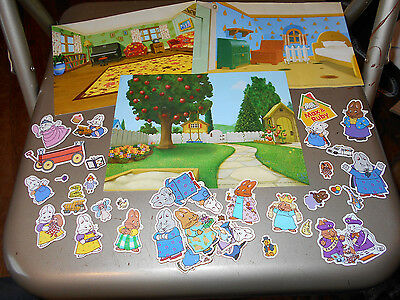Max & Ruby Magnet Set With 3 Backgrounds, EUC