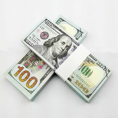 100pcs New Version USD $100 Play Money Training Banknotes Paper Money UNC 14