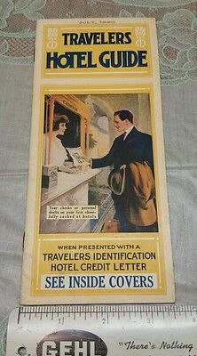 1920 Travel Booklet Hotels Travelers Id Identification Credit Letter 5th Ave NY
