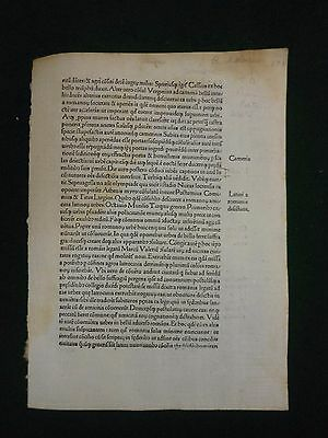 [Single leaf]: Incunable, 1480.
