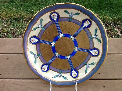 Pickard Decorating Company Limoges Art Nouveau Decorated Charger  Very Vibrant