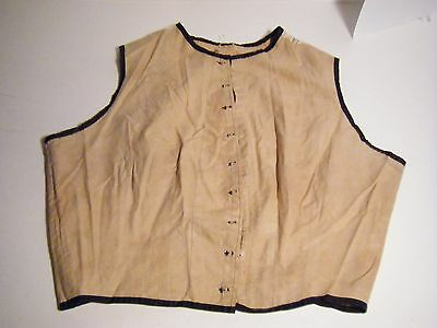 Ant. Victorian 1900's Cotton Corset Cover Camisole Top Blouse