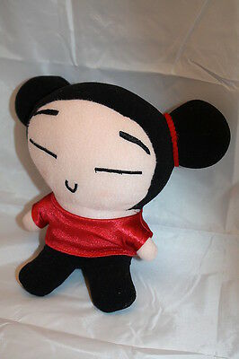 """Japanese PUCCA Plush DOLL 7"""" Japan Red Dress Stuffed Toy USA Seller US No Tags"""