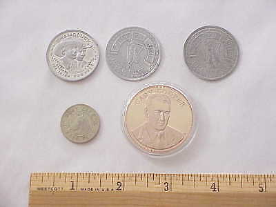 Vintage Western Token and Gary Cooper Coin Token Mixed Lot of 5