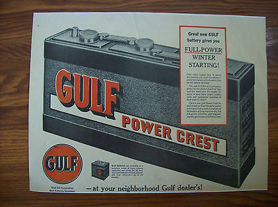 Gulf Oil Power Crest Battery large poster