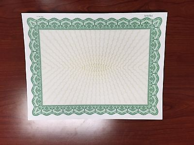 Goes Brand Green Bordered Certificates (500)