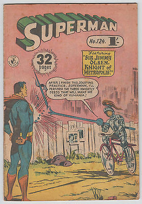 SUPERMAN , No 124 , 1957 , Colour Comics Pty Ltd