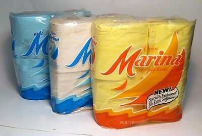 vintage Crown Marina toilet tissue 3 packages 1973