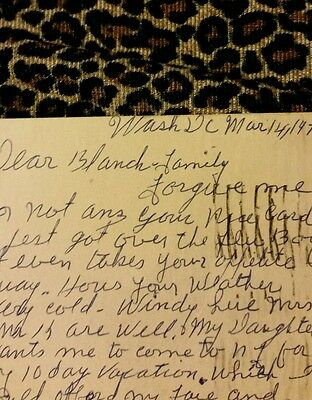 1970 postcard from Washington DC lady needs to leave bc colored people...
