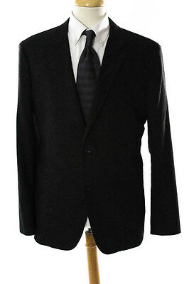 Theory Men's Speckled Gray Wool Blazer Size 46