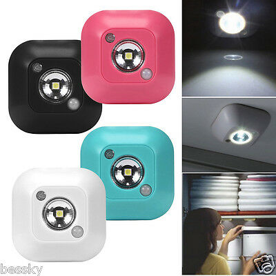 Mini LED Wireless Night Light Motion Sensor Lights Wall Emergency Night Lamp New