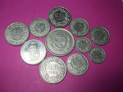 Collection Of World Coins - Switzerland Swiss Helvetia Francs