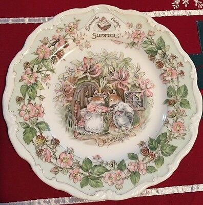 Royal Doulton Brambly Hedge SUMMER Plate 1982