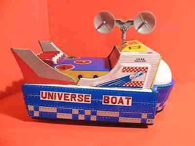 Universe Boat Tin Battery op Space mobile boxed & working