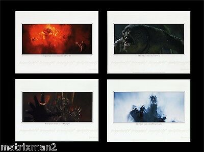 LOTR Fan Club ~ All 4 Limited Ed Lithographs Balrog Cave Troll Sauron Witch King