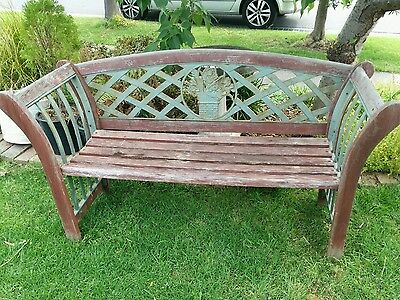 cast iron and timber bench seat