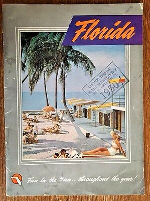 Vintage 1950s Florida Travel Tourism Major City Attractions Guide Booklet Book