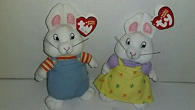 Nickelodeon Max & Ruby Ty Beanie Babies W Tags