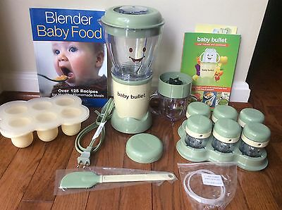 Magic Bullet BABY BULLET Baby Food Maker Blender plus accessories and recipes