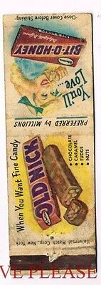 1930s Old Nick/Bit-O-Honey Candy Deluxe Matchcover
