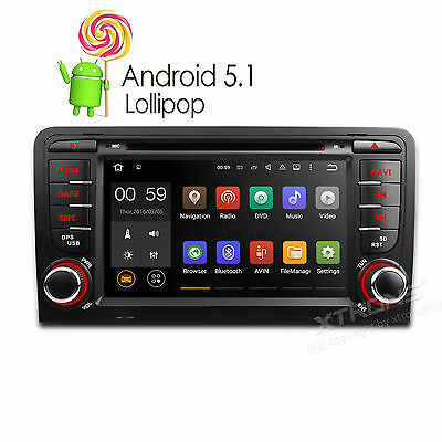 "7"" Android 5.1 Car DVD Player Stereo GPS Navigation OBD2 1080P WiFi Audi A3/S3"