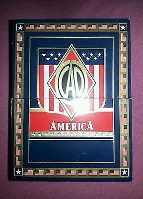 CAO America Landmark Patriotic Wood Cigar Box Empty Momento Keepsake Box