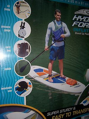 Bestway Hydro Force 10' Inflatable Stand Up Or Sit Down Paddle Board 65069E New!