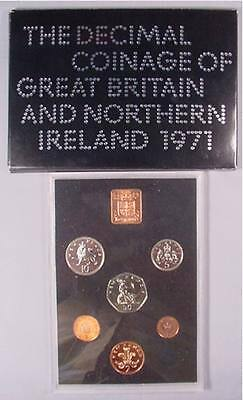 1971 Proof Decimal Coinage Of Great Britain-Northern Ireland