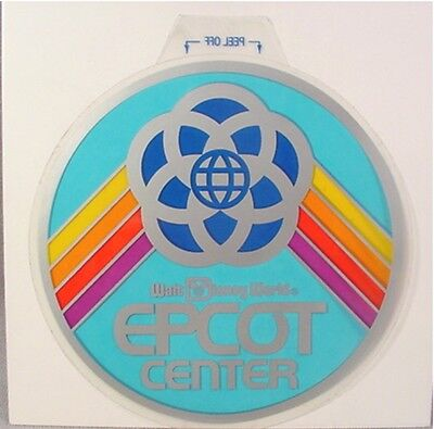 1982 EPCOT CENTER Disney Opening Decal Window Display Sticker