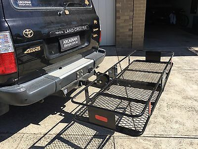 Arcadian Sport Pro Steel Tow bar Car 4WD 4x4 Cargo Luggage Carrier Basket Mesh