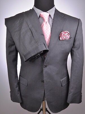 *Recent* ZEGNA Fabric/Saks Fifth Avenue Modern 2Btn Suit 40R 40 R