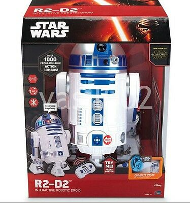 Collectors STAR WARS INTERACTIVE R2 DR DROID ROBOT NIB use Voice commands