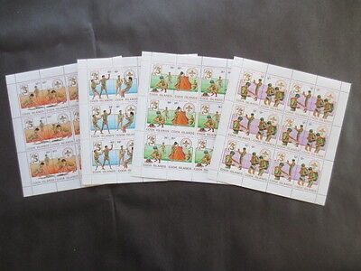 COOK ISLANDS 1983 705a-708b VF MINT NEVER HINGED MNH BOY SCOUTS COMPLETE SET