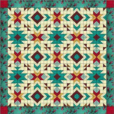 Quilt Kit/Southwest Totem/Pre-cut Fabric Ready To Sew/Beautiful!