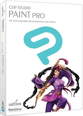 Clip Studio Paint Pro by Smith Micro - New Retail Box CLSP1HDVD