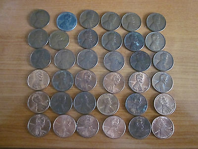Lincoln Head cent collection.USA. 36 coins