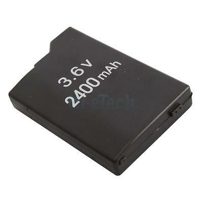 Durable 3.6V 2400mAh Battery Replacement Pack for Sony PSP 2000 3000 Black