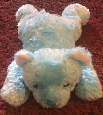 Ty Light Blue Bear Plush Rattle Named Cuddlecub from 2001