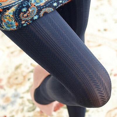 Autumn Winter Soft Pantyhose With Vertical Wheat Pattern Women Stocking 5 Colors