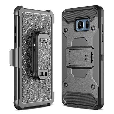 For Samsung Galaxy S7 Edge Cover Steel Armor Jacket Hybrid Belt Clip Stand Case