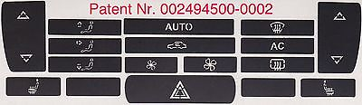 Saab 9-3 cabrio 2003 - 2006 climate control A/C heater buttons button repair
