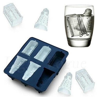 New Doctor Who Silicone Ice Cube Tray Candy Chocolate Baking Molds Mould Hot fd