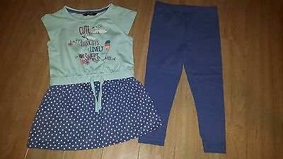 Girls  BlueTop and Leggings Set, size 2-3 years