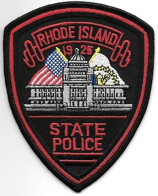 "*NEW*  Rholde Island State  # 1 (3.75"" x 4.75"") shoulder police patch (fire)"