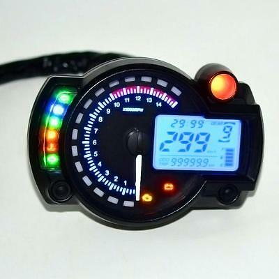 Backlight LCD Digital Motorcycle Speedometer Odometer Motor Bike Tachometer Hot