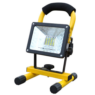30W LED Rechargeable Portable Cordless Mobile Work Site FloodLight Camping Lamp