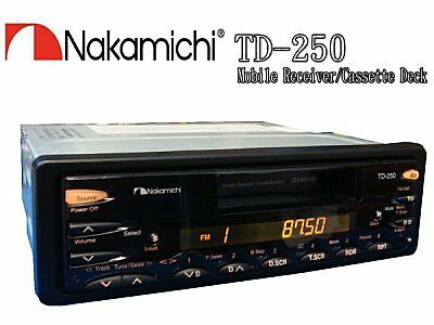 Nakamichi Td250 Mobile Receveir Cassette Deck, Cd-Changer Control, Preout